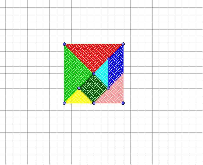 A través de la manipulación de los dos puntos de cada figuras, podrás moverlas o girarlas Press Enter to start activity