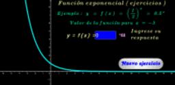 Función exponencial base 1/2 ( ejercicios )