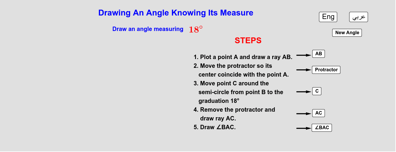 Drawing an Angle Knowing Its Measure   رسم زاوية قياسها مُعطى