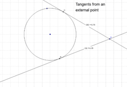 Tangents from an external point