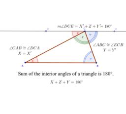 Interior angle Sum of Triangles Proof