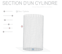Sections de cônes et de cylindres