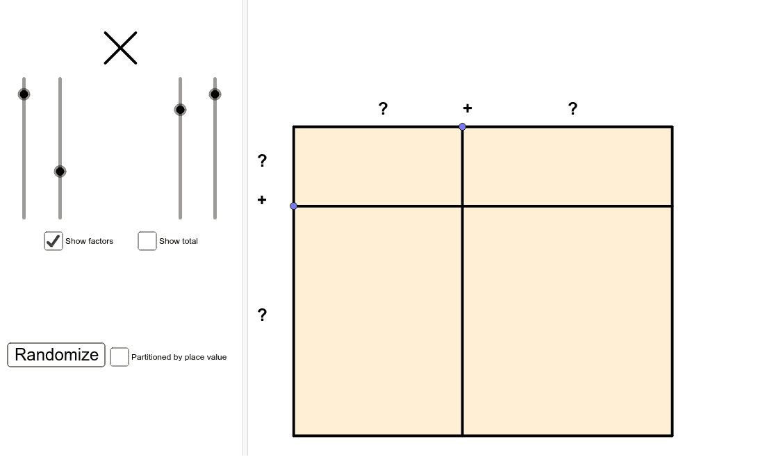 Click on the model to show/hide the decompositions and partial products.