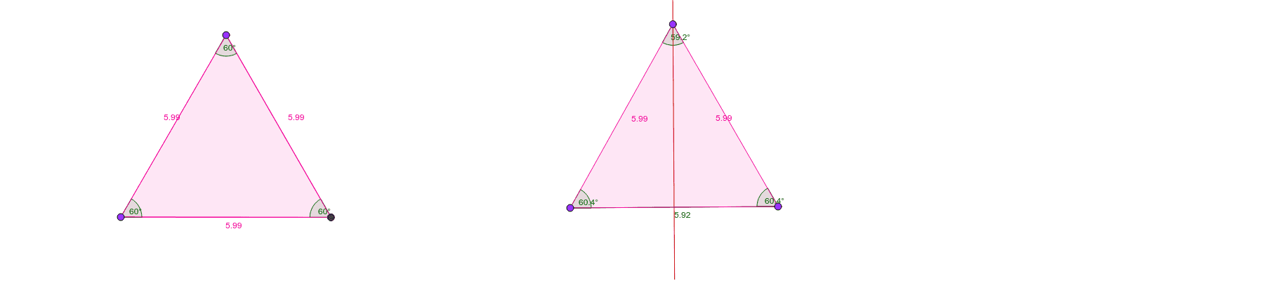 Triangles in GeoGebra