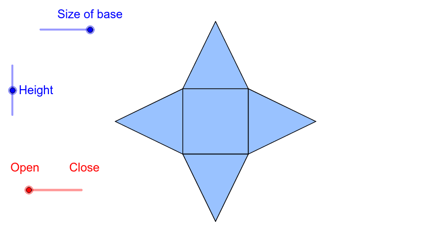 Net of a Square based Pyramid
