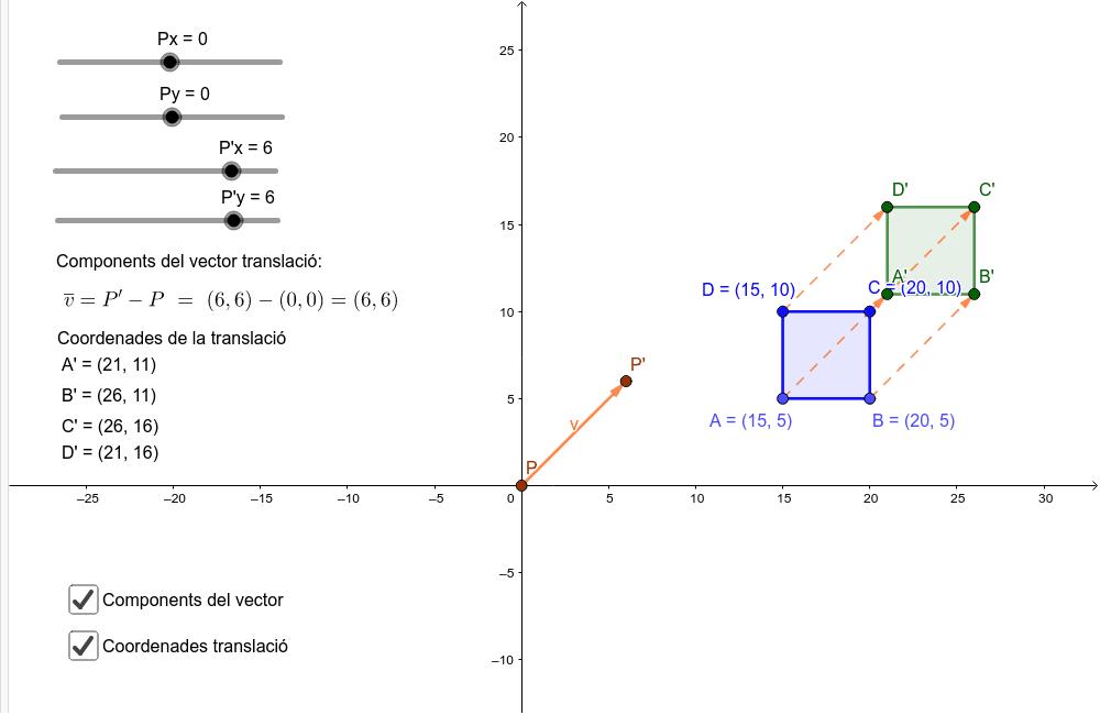 Translació segons un vector