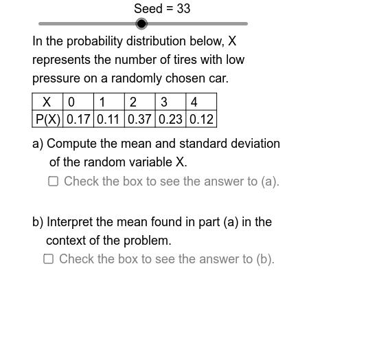 Discrete Probability Distributions: Mean & Standard