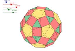 Dwudziesto-dwunastościan rombowy mały - wersja kolorowa
