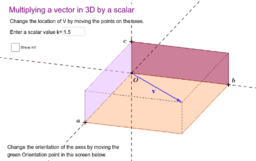 Multiplying a Vector in 3D by a Scalar