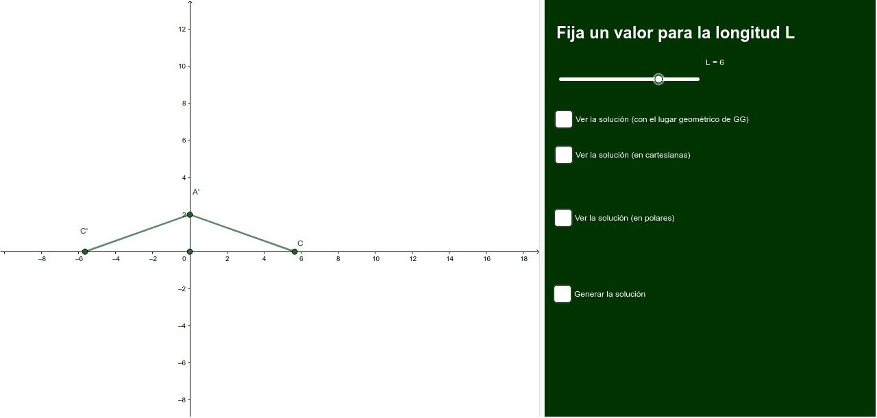 Un segmento de longitud fija L se desliza por los ejes coordenados. Hallar el lugar geométrico de las intersecciónes de los pies de las perpediculares desde el origen al segmento.