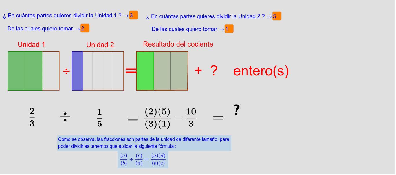 Fracción Como Cociente Geogebra