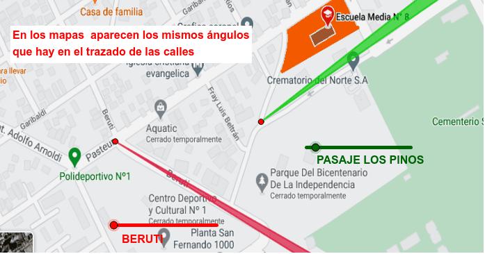 Usá los deslizadores rojo y verde para ver los ángulos de las calles en el mapa Presiona Intro para comenzar la actividad