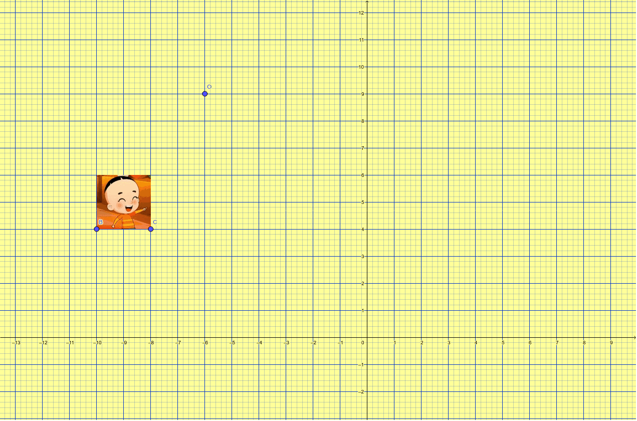 Baixa l'arxiu, mou el punt O segons el teu punt assignat a la llista i troba la figura transformada per mitjà d'una simetria central en el punt O.