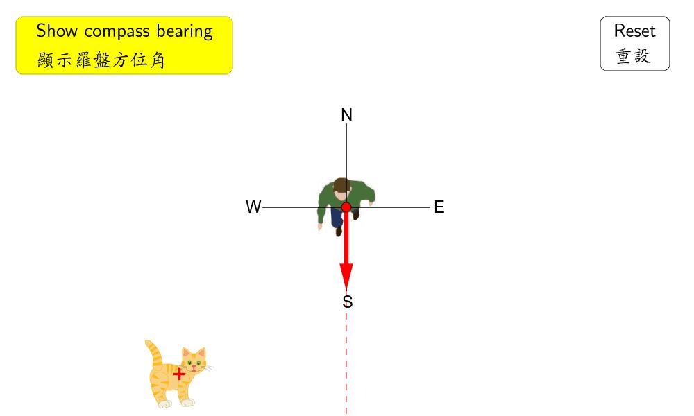 Compass Bearings 羅盤方位角 Press Enter to start activity