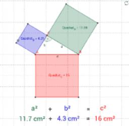 Pythagoräischer Lehrsatz - Beweis