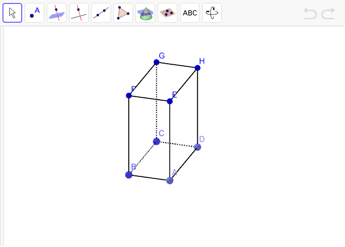 7. Istakni na kvadru dvije ravnine koje su okomite jedna na drugu različitim bojama. Pritisnite Enter kako bi pokrenuli aktivnost