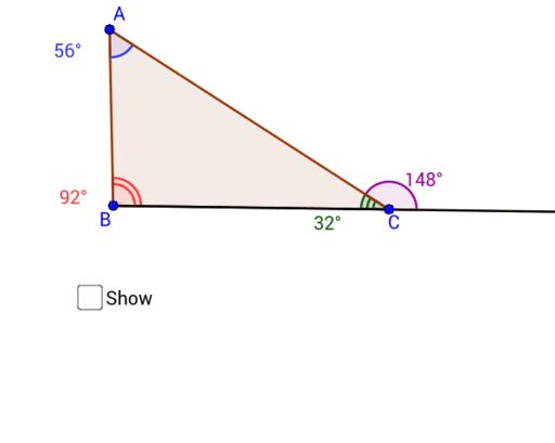 Triangle Exterior Angles Geogebra