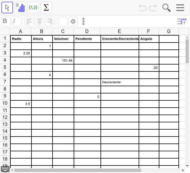 Teniendo en cuenta los registros obtenidos para el cilindro analizado complete los datos de la tabla hasta la fila 10 Presiona Intro para comenzar la actividad