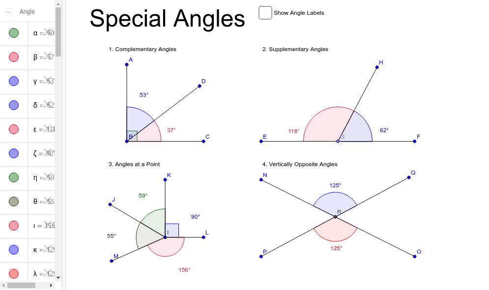 Adjacent/Special Angles