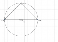 Angles at the centre and semi-circle
