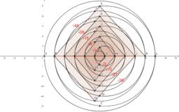 Ciklusi 0 - 10 in 0 - 11... trikotna števila spirala... 2