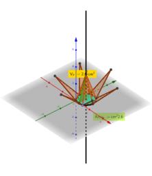 Piramide esagonale regolare con slider
