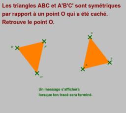Symétrie centrale Exercice 6