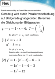 10I.4 - Parallelverschiebung, Geradengl. bestimmen.