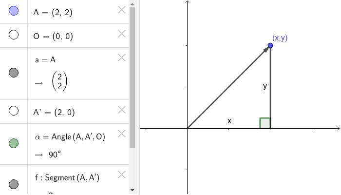 ベクトルと三角形