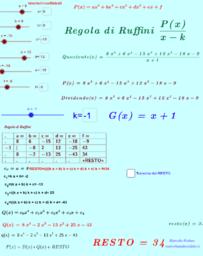 Regola di Ruffini e Divisione tra Polinomi