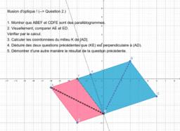Illusion d'optique parallélogrammes