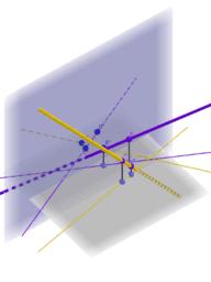 Distancia entre dos rectas. Sistema diédrico.