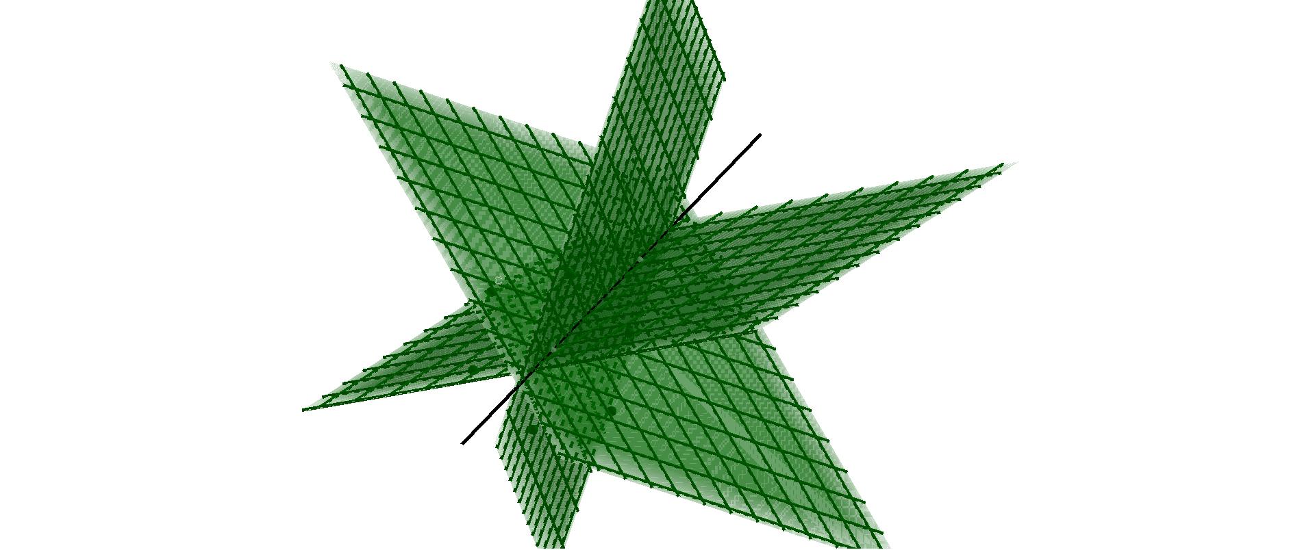 Haz de planos de una recta dada en el espacio Presiona Intro para comenzar la actividad