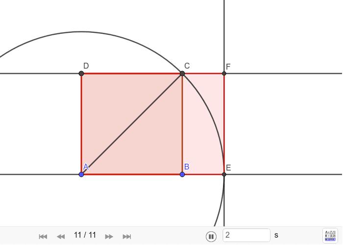 Konstrukcija dijagona ili pravokutnika √2 Pritisnite Enter kako bi započeli aktivnost