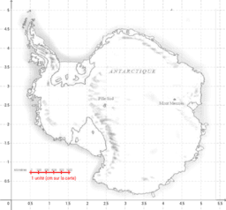 mesure de l'aire de l'antarctique.