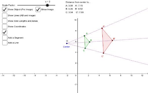 how to change scale on geogebra