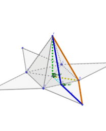 Pyramide à base carré et ses segments