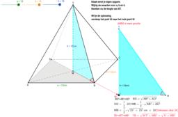 Piramide lengte zijde berekenen met Pythagoras