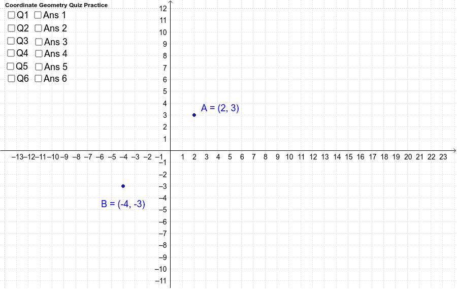 Coordinate Geometry - exercise