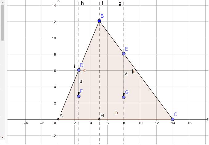 due piani inclinati, i due punti materiali E e D si intendono collegati da una fune (virtuale, non è rappresentata in figura) indeformabile, passante per B Premi Invio per avviare l'attività
