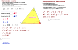 Teorema di Carnot e disuguaglianza di Weitzenböck