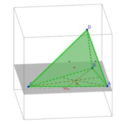 Baricentro de un tetraedro