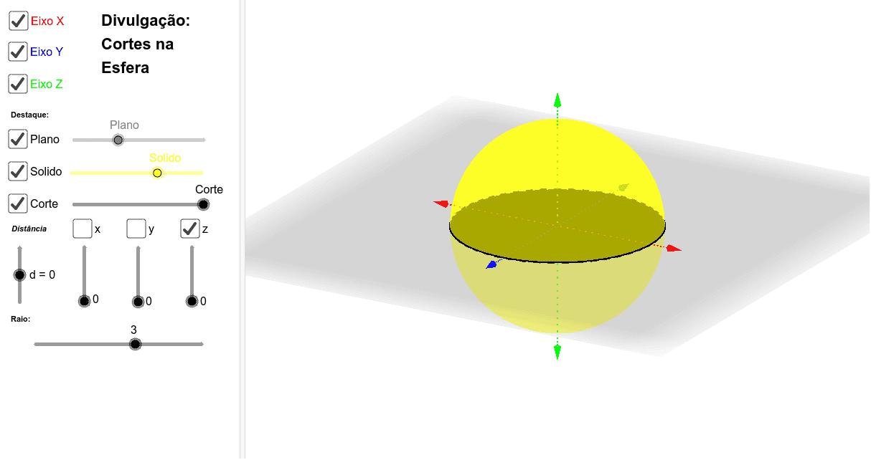 Projeto Final: Representação das Seções Planas dos Sólidos Geométricos Press Enter to start activity