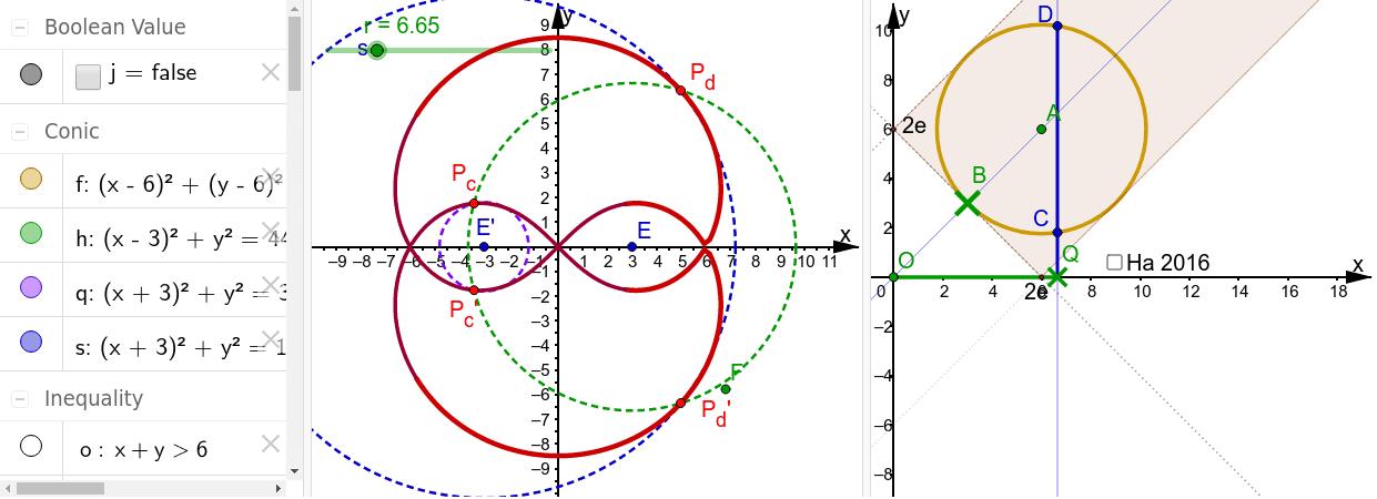 Ändere auch den Kreis durch Bewegen von B Drücke die Eingabetaste um die Aktivität zu starten