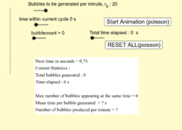 Simulating Bubble Generation based on Timings using Poisson Process