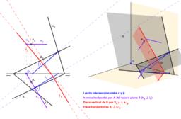 DT2.Diedrico. Paralelismo y perpendicularidad. Problema 03.