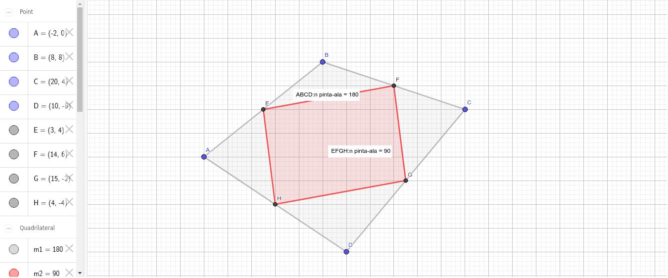 Nelikulmion sivujen keskipisteiden yhdistäminen Paina Enter aloittaaksesi
