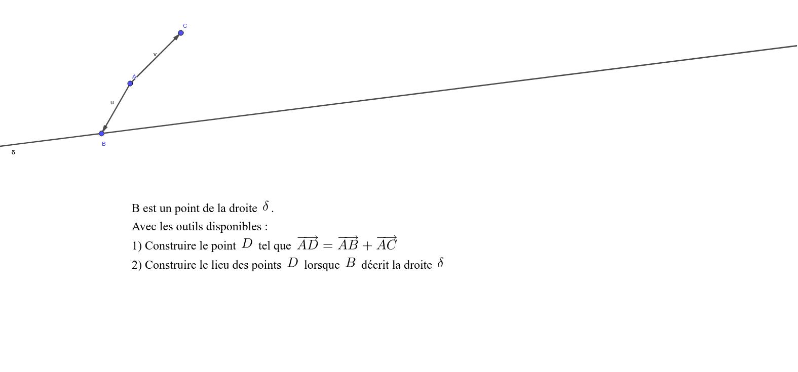 Construction Vecteur Seconde Exercice 2 Geogebra