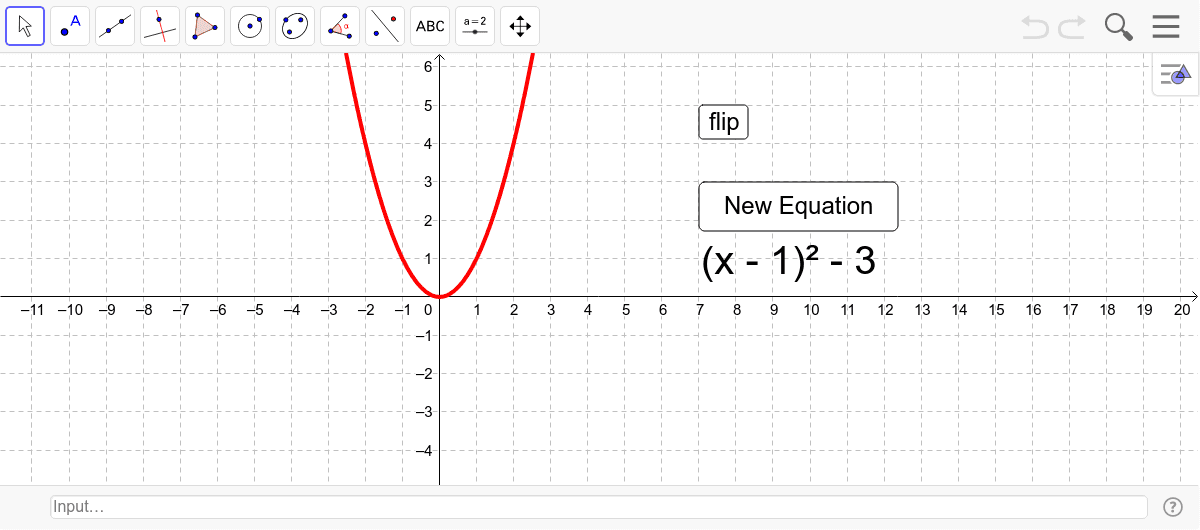 Move Graph to match Equation