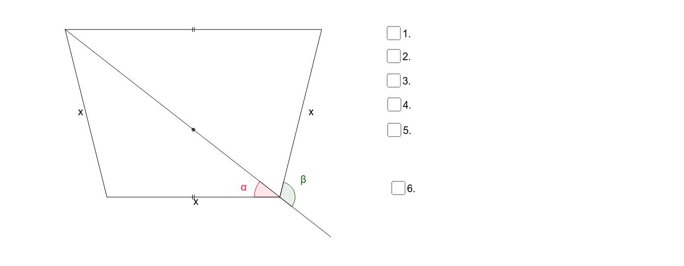Bestimmen Sie jeweils beta aus alpha (allgemein) sowie beta für alpha=38º Press Enter to start activity